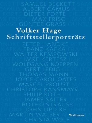 cover image of Schriftstellerporträts