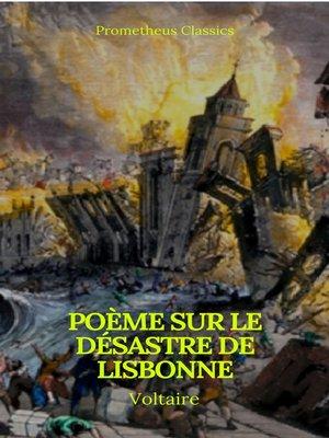 cover image of Poème sur le désastre de Lisbonne (Prometheus Classics)