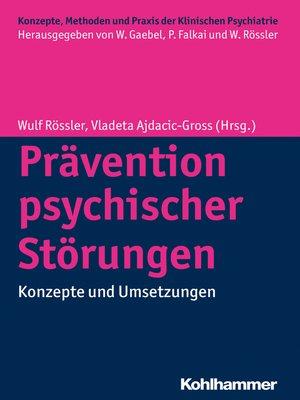 cover image of Prävention psychischer Störungen