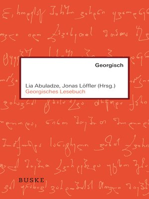 cover image of Georgisches Lesebuch