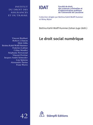 cover image of Le droit social numérique