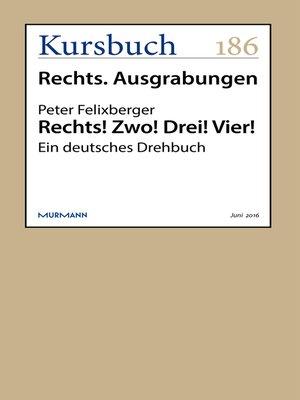 cover image of Rechts! Zwo! Drei! Vier!