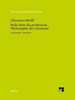 cover image of Rede über die praktische Philosophie der Chinesen