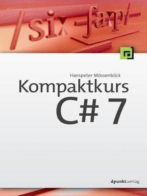 cover image of Kompaktkurs C# 7