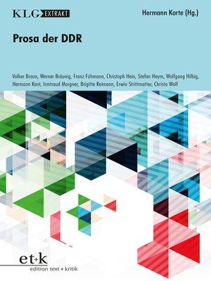 cover image of KLG Extrakt--Prosa der DDR