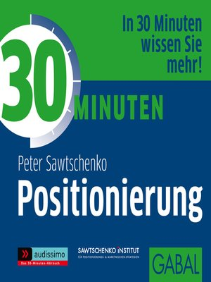 cover image of 30 Minuten Positionierung