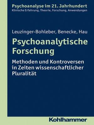 cover image of Psychoanalytische Forschung