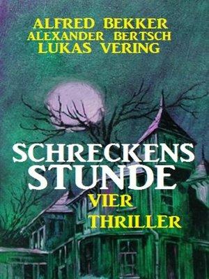 cover image of Schreckensstunde