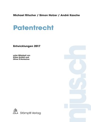 cover image of Patentrecht
