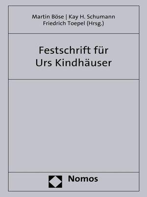 cover image of Festschrift zum 70. Geburtstag von Professor Dr. Dr. h.c. mult. Urs Kindhäuser