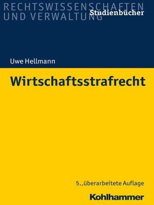 cover image of Wirtschaftsstrafrecht