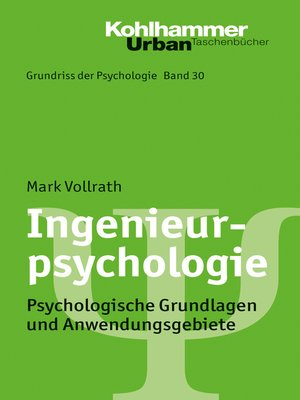 cover image of Ingenieurpsychologie