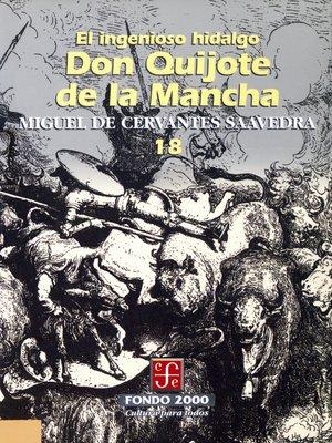 cover image of El ingenioso hidalgo don Quijote de la Mancha, 18