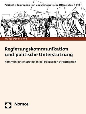 cover image of Regierungskommunikation und politische Unterstützung