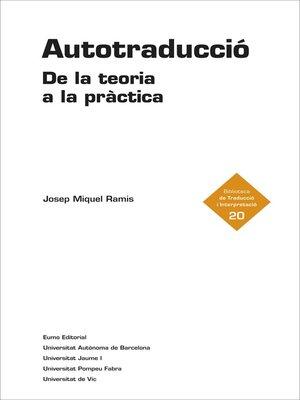 cover image of Autotraducció