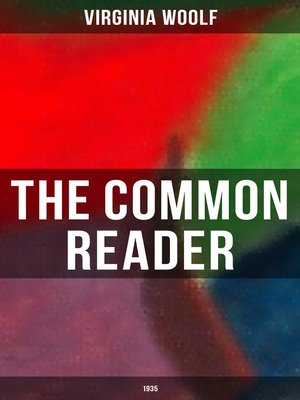 cover image of THE COMMON READER (1935)