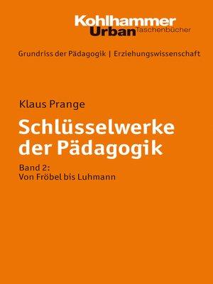 cover image of Schlüsselwerke der Pädagogik