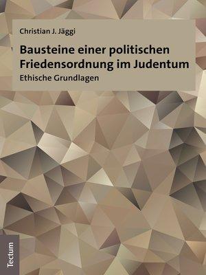 cover image of Bausteine einer politischen Friedensordnung im Judentum
