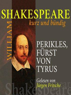cover image of Perikles, Fürst von Tyrus