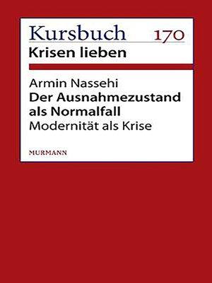 cover image of Der Ausnahmezustand als Normalfall