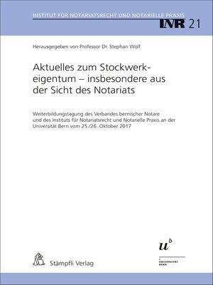 cover image of Aktuelles zum Stockwerkeigentum--insbesondere aus der Sicht des Notariats