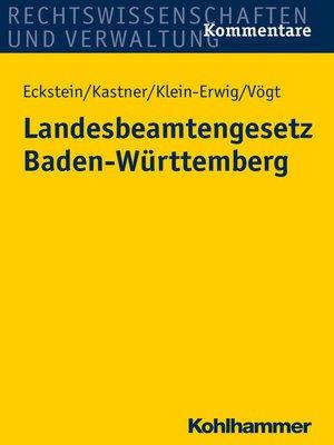 cover image of Landesbeamtengesetz Baden-Württemberg