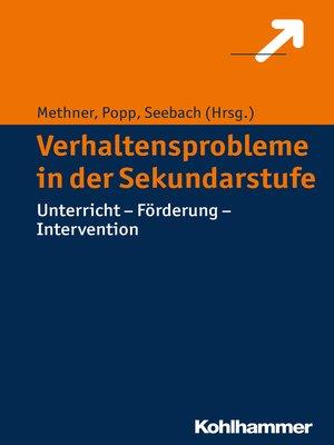 cover image of Verhaltensprobleme in der Sekundarstufe