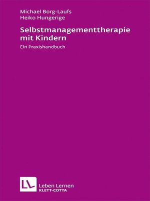 cover image of Selbstmanagementtherapie mit Kindern