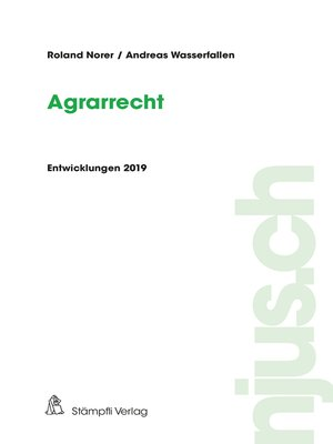 cover image of Agrarrecht, Entwicklungen 2019