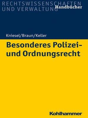 cover image of Besonderes Polizei- und Ordnungsrecht