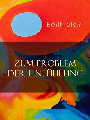 cover image of Zum Problem der Einfühlung