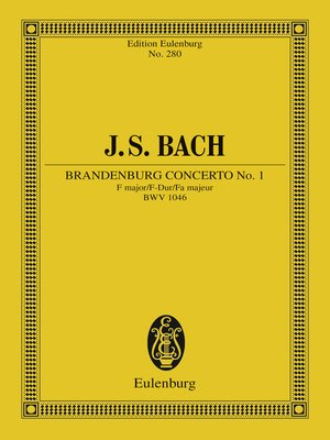 cover image of Brandenburg Concerto No. 1 F major