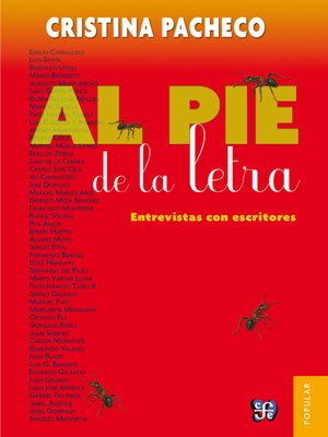 cover image of Al pie de la letra