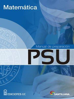 cover image of Manual de preparación PSU Matemática