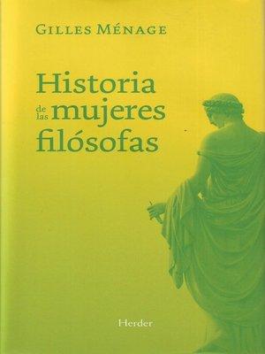 cover image of Historia de las mujeres filósofas