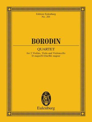 cover image of String Quartet No. 2 D major