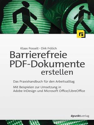 cover image of Barrierefreie PDF-Dokumente erstellen
