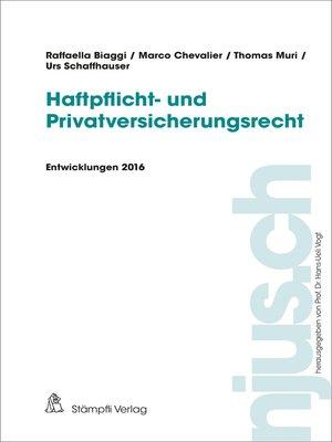 cover image of Haftpflichtrecht