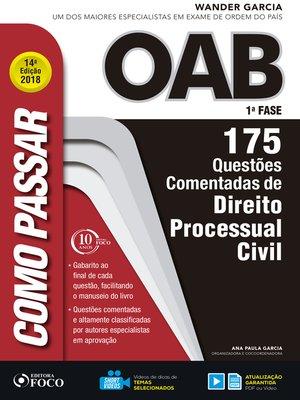cover image of direito processual civil: 175 questões comentadas