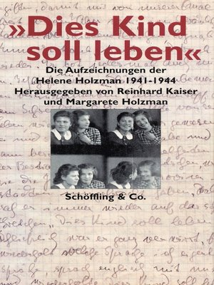 "cover image of ""Dies Kind soll leben"""