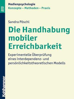 cover image of Die Handhabung mobiler Erreichbarkeit