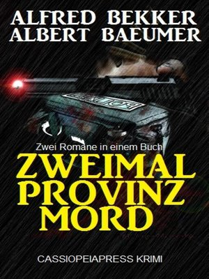 cover image of Zweimal Provinzmord