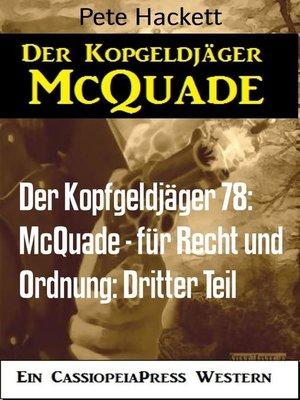 cover image of Der Kopfgeldjäger 78