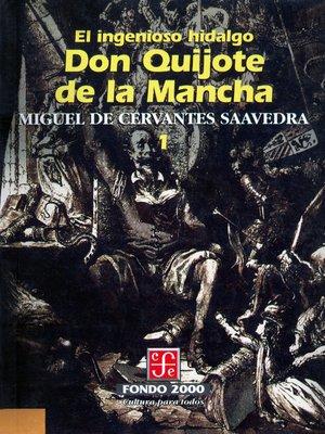 cover image of El ingenioso hidalgo don Quijote de la Mancha, 1