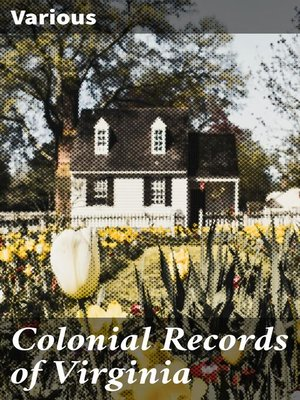 cover image of Colonial Records of Virginia