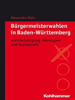 cover image of Bürgermeisterwahlen in Baden-Württemberg
