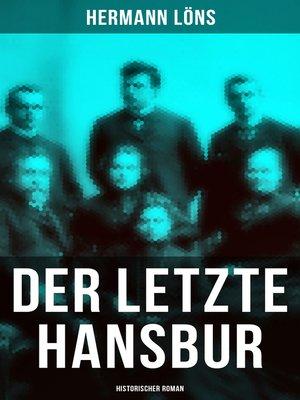 cover image of Der letzte Hansbur