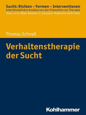 cover image of Verhaltenstherapie der Sucht