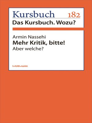 cover image of Mehr Kritik, bitte!