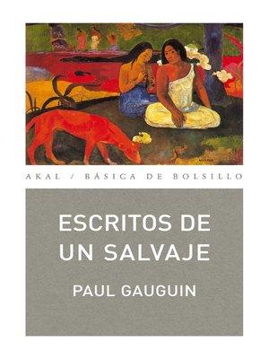 cover image of Escritos de un salvaje